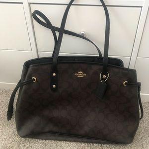 Like new brown logo COACH bag